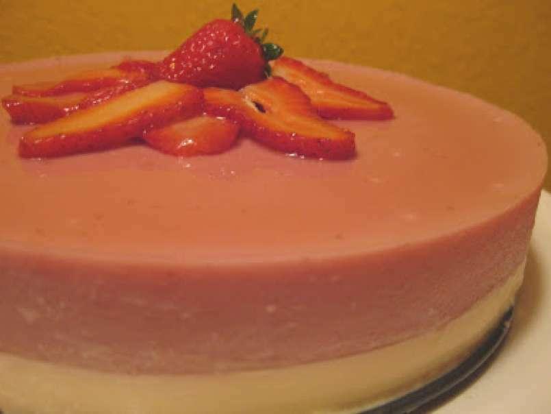 tarta de chocolate blanco y fresas utilisima