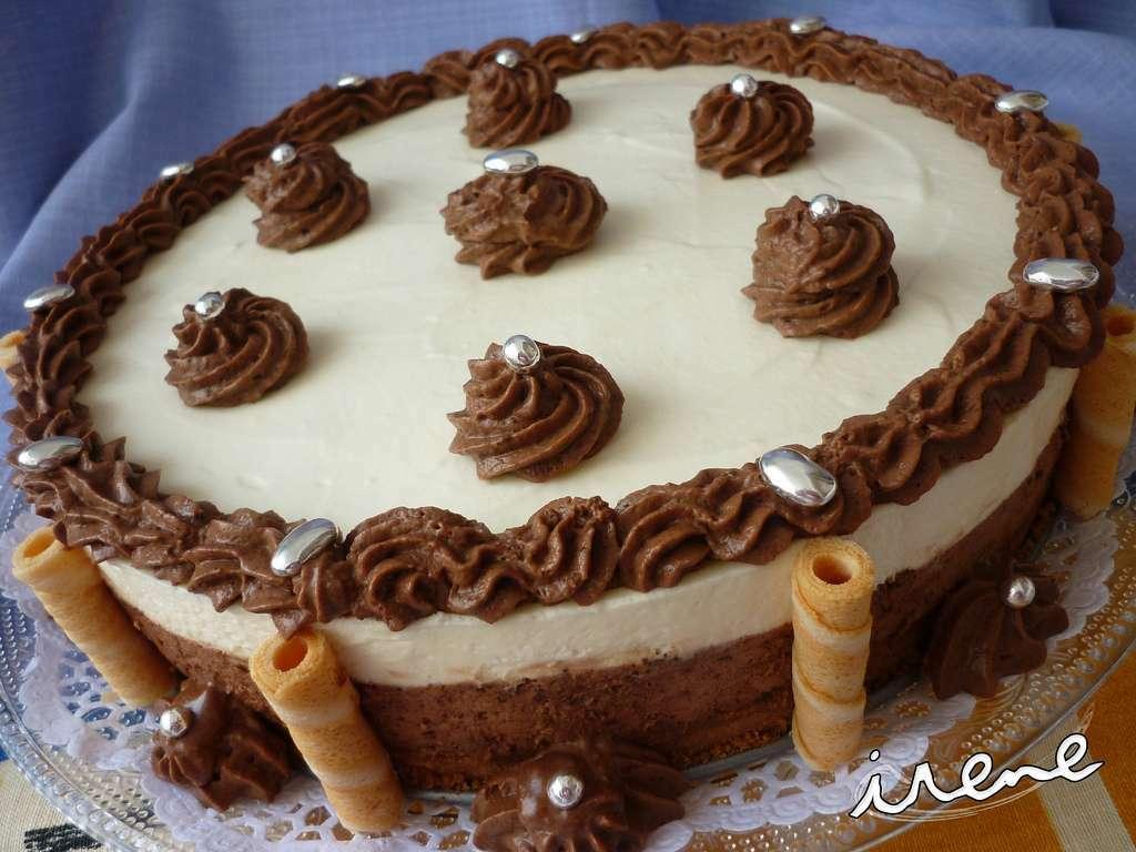 Tarta mousse de chocolate negro y blanco (cumpleaños