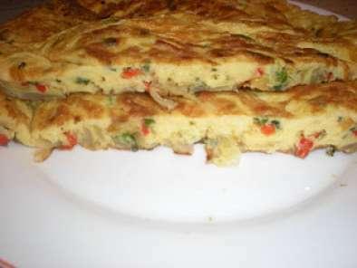 Tortilla francesa de cebolla y pimientos receta petitchef - Tortilla francesa calorias ...
