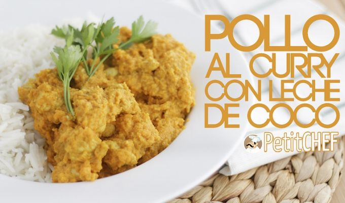 Pollo al curry y leche de coco