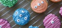 Cupcakes monstruos halloween