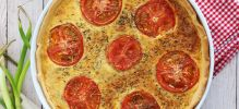 Quiche de atún y tomate natural