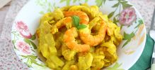 Gambas al curry y coco express